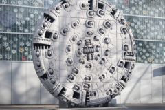 Rock tunnel boring machines